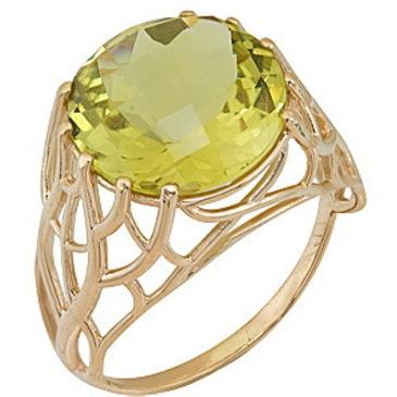 кольцо c цитрином из красного золота 1090001379
