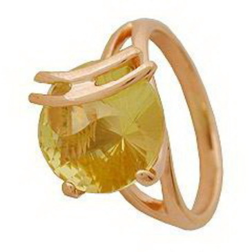 кольцо c цитрином из красного золота 1090000211