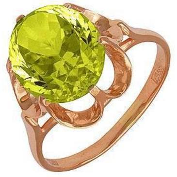 кольцо c цитрином из красного золота 1190136