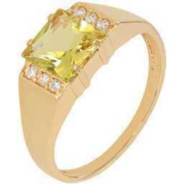 кольцо c цитрином из красного золота 1900002095