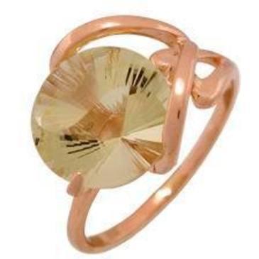 кольцо c цитрином из красного золота 1090000214