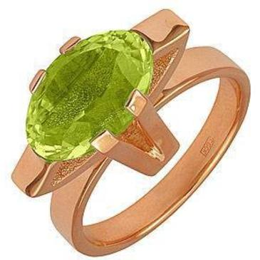 кольцо c цитрином из красного золота 11901761