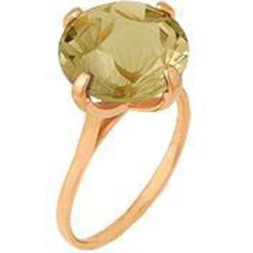 кольцо c цитрином из красного золота 1090000053