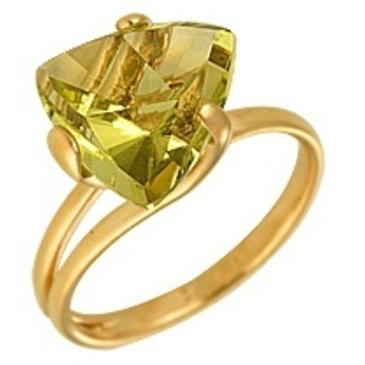 кольцо c цитрином из красного золота 1090000202