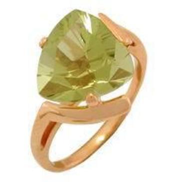 кольцо c цитрином из красного золота 1090000217