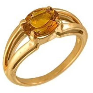 кольцо c цитрином из красного золота 1090000242