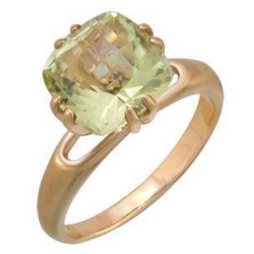 кольцо c цитрином из красного золота 1090000247