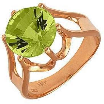 кольцо c цитрином из красного золота 11901284