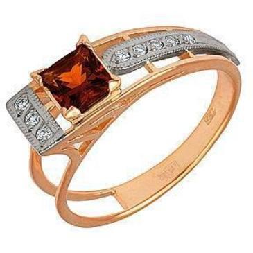 кольцо c цитрином из красного золота 12921626
