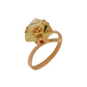 кольцо c цитрином из красного золота 1090000347