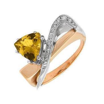 кольцо c цитрином из красного золота 12931986