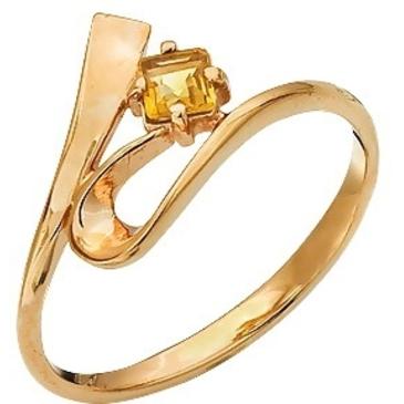 кольцо c цитрином из красного золота 1090000066