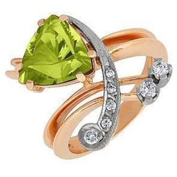 кольцо c цитрином из красного золота 12931985