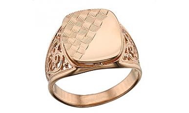 Ня картинки - женские печатки из золота без камней - Няшки