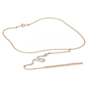 Браслет-кольцо  с фианитами из красного золота 126707