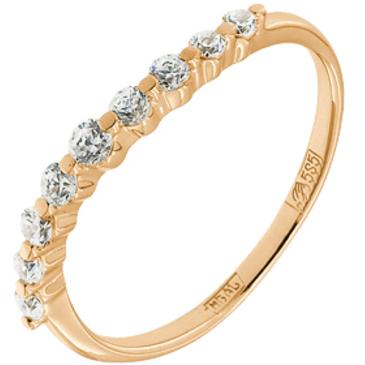 кольцо c фианитами из красного золота 11028062