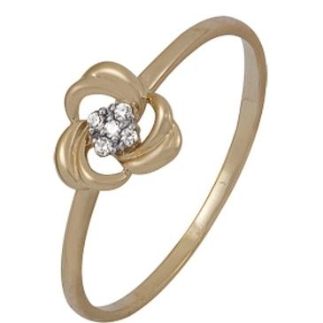 кольцо c фианитами из красного золота 1200201967