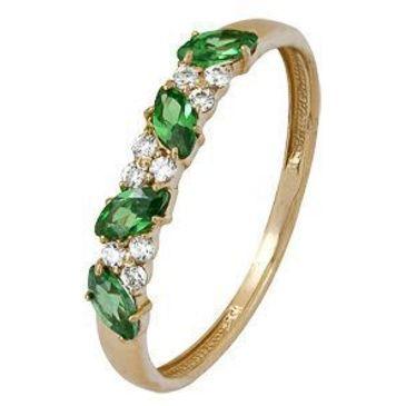 кольцо c фианитами из красного золота 1200002062-1