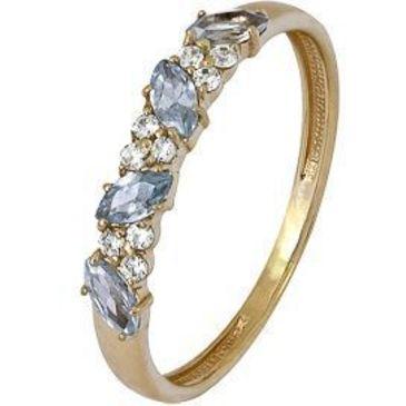 кольцо c фианитами из красного золота 1200002062-2