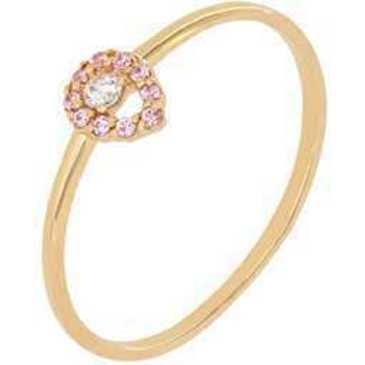 кольцо c фианитами из красного золота 1200001979-2