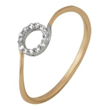 кольцо c фианитами из красного золота 1200201349