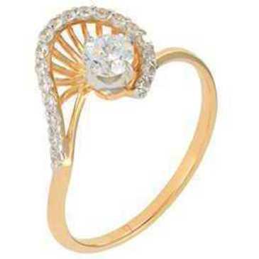 кольцо c фианитами из красного золота 12027238