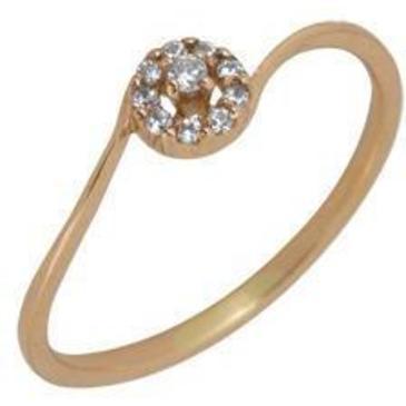кольцо c фианитами из красного золота 1200001369