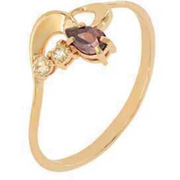 кольцо c фианитами из красного золота 1200001869-2