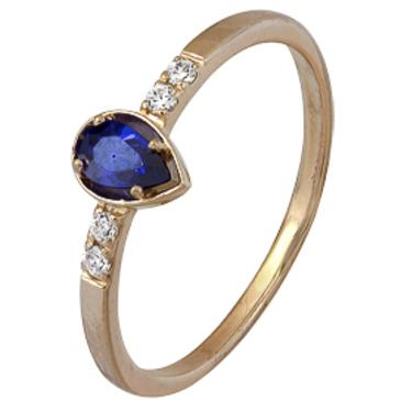 кольцо c фианитами из красного золота 1200002161