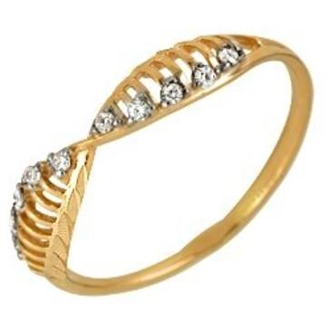 кольцо c фианитами из красного золота 1201101220