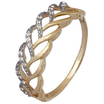 кольцо c фианитами из красного золота 1200202232