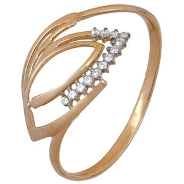 кольцо c фианитами из красного золота 1200202250