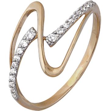 кольцо c фианитами из красного золота 1200202237