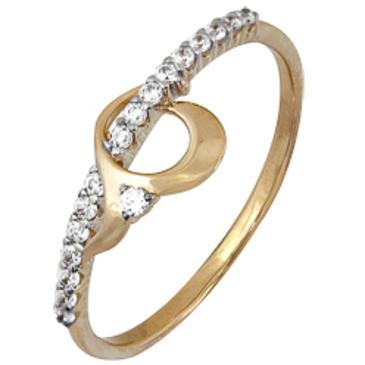 кольцо c фианитами из красного золота 1200202168Л