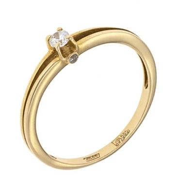 кольцо c фианитами из красного золота 11028120