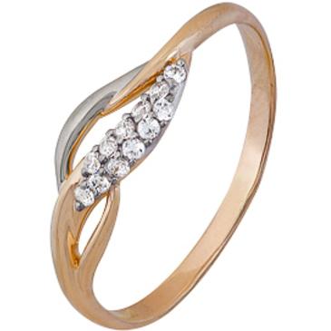 кольцо c фианитами из красного золота 1200202254