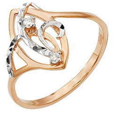 кольцо c фианитами из красного золота 11026184