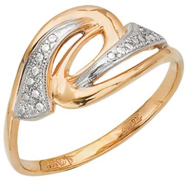 кольцо c фианитами из красного золота 11027363