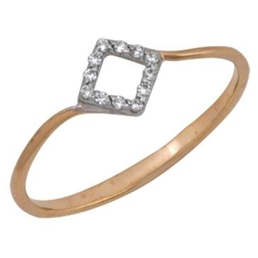 кольцо c фианитами из красного золота 1200201334