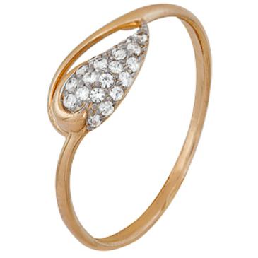кольцо c фианитами из красного золота 1200202252