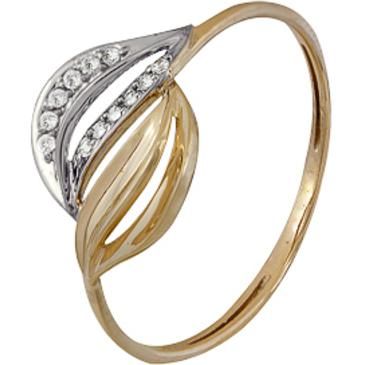 кольцо c фианитами из красного золота 1200202212