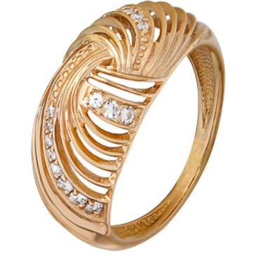 кольцо c фианитами из красного золота 1200001856 от EVORA