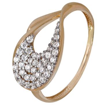 кольцо c фианитами из красного золота 1200202304Л