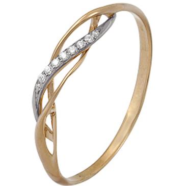 кольцо c фианитами из красного золота 1200202354