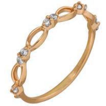 кольцо c фианитами из красного золота 1200001320