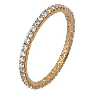кольцо c фианитами из красного золота 11024168