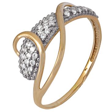 кольцо c фианитами из красного золота 1200202325л