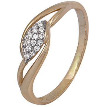 кольцо c фианитами из красного золота 1200202385л