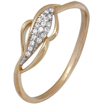 кольцо c фианитами из красного золота 1200202388л