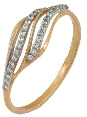 кольцо c фианитами из красного золота 2200201437